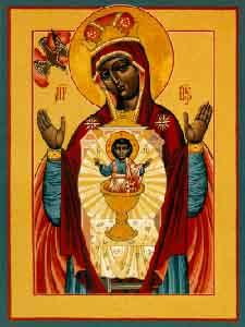 Black madonna pregant