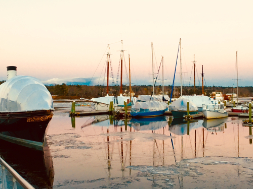 Sail boats over winter